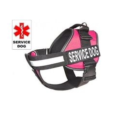 Large Dog Harness Vest Pink Service Therapy Mobility Guide Patches ID K9 Assist #LargeDogHarnessUSA