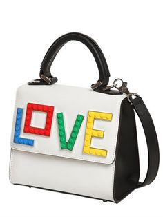 LES PETITS JOUEURS - MICRO ALEX RAINBOW LOVE TOP HANDLE BAG - WHITE