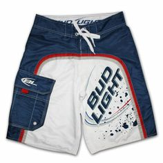 anything bud light | Bud Light Splatter White Blue Boardshorts Swim Suit
