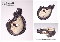 Pagan Jewelry Wire Wrapped Hag Stone http://www.brighidspaganjewellery.co.uk/products/00490-wire-wrapped-kentish-hag-stone.html