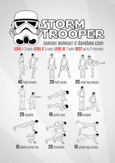 The Empire needs YOU! Get ready to do what is necessary. No-equipment recruitment workout for all fitness levels. # what is Nutrition Hiit Workouts For Men, 100 Workout, Workout For Beginners, At Home Workouts, Hero Workouts, Workout Ideas, Fitness Workouts, Neila Rey, Workout Exercises