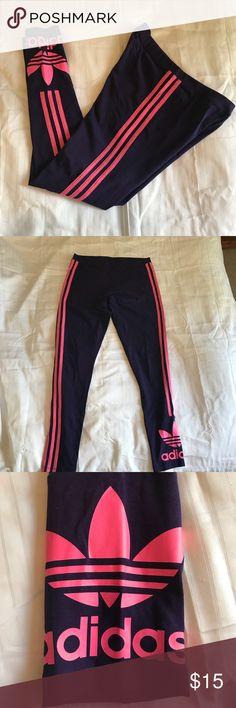 Adidas Athletic Pants Purple and Pink Stripe Athletic Pants great for working out or athleisure wear! Cotton spandex material. adidas Pants Leggings