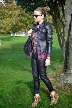 Leather & Tartan