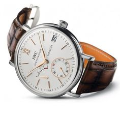 IWC Portofino Hand Wound Eight Days #watch @Sarah Kozich World Schaffhausen Watches