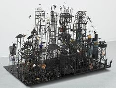 Peter Madden. Necrolopolous, 2004. Mixed media, 110 x 900 x 1600mm.
