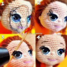 A free Amigurumi Dog pattern that shows you how to use Brush Crochet to create the most adorable fluffy doll with a realistic furry look. Best crochet dolls omg i m completely in love with these dolls so cute salvabrani amigurumi crochet knitting amigurum Crochet Amigurumi, Crochet Doll Pattern, Amigurumi Doll, Amigurumi Patterns, Doll Patterns, Crochet Patterns, Crochet Eyes, Cute Crochet, Crochet Baby