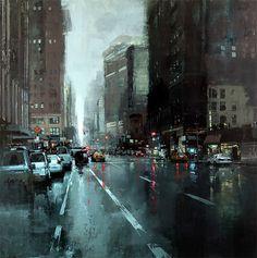 jeremy mann prints | New Cityscape Paintings by Jeremy Mann | Inspiration Grid | Design ...