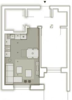 kuchnia z salonem kwadrat - Szukaj w Google
