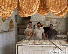 Fresh bread, Iran
