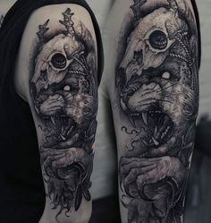 Tattoo by @grindesign_tattoo  Tag photos #darkartists to submit your work, follow the artists and check out interviews and more at our new website : www.darkartists.co
