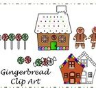 Gingerbread Clipart 2 Different gingerbread houses color and black and white 2 Gingerbread people 6 peppermint candy colored 2 peppermint candy bla...