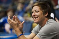 Abby Wambach at a Major Indoor Soccer League game in Rochester, N.Y., Feb. 24, 2013. (Marie de Jesus/Rochester Democrat and Chronicle)