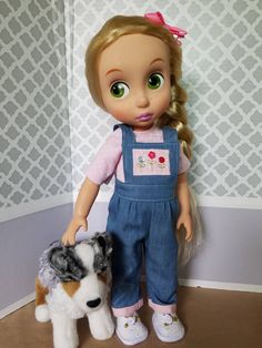 Charming Overall and Tee Shirt Set for Disney Animators Dolls! by CreativelyEllie on Etsy