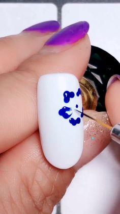 Nail Art Designs Videos, Nail Design Video, New Nail Designs, Nail Art Videos, Simple Nail Designs, Acrylic Nail Designs, Nails Design, Nail Art Tutorials, Nail Salon Design