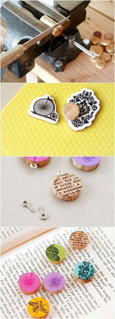 Diy Easy And Beautiful Pendants | DIY & Crafts Tutorials... put magnets on the back