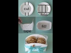 DIY cookie basket made from a paper plate - Clever home-made gift basket for baked goodies! -easy DIY cookie basket made from a paper plate - Clever home-made gift basket for baked goodies! Cookie Baskets, Food Baskets, Cheap Baskets, Kitchen Gift Baskets, Making Baskets, Diy Gift Baskets, Diy And Crafts, Arts And Crafts, Paper Plates
