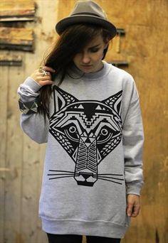 Aztec Wolf Sweatshirt