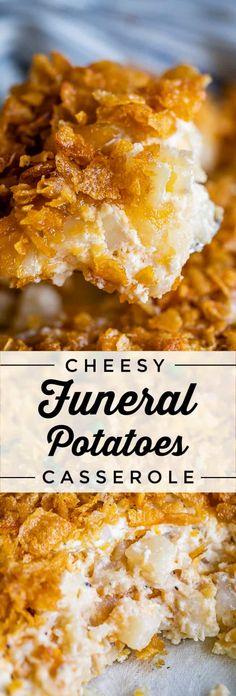 Cheesy Potato Casserole, Potatoe Casserole Recipes, Easy Cheesy Potatoes, Chessy Potatoes, Cornflake Potato Casserole, Cornflake Potatoes, Potato Caserole, Easy Casserole Dishes, Potato Recipes
