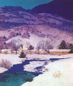 Christmas Eve. Deep Valley by Maxfield Parrish, 1946
