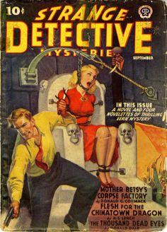 Helpless Women – Page 65 – Pulp Covers Arte Horror, Horror Art, Pulp Fiction Book, Roman, Cartoon Books, Pulp Magazine, Magazine Covers, Vintage Horror, Detective Comics