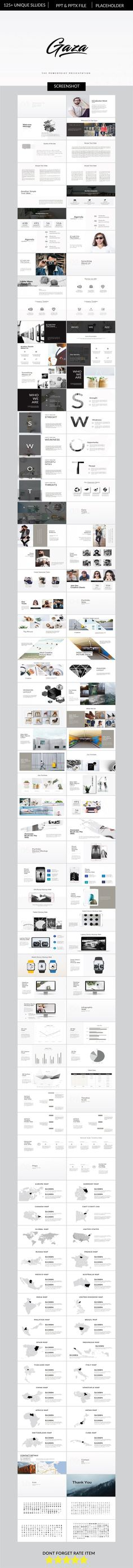 Gaza Multipurpose Business Powerpoint - PowerPoint Templates Presentation Templates