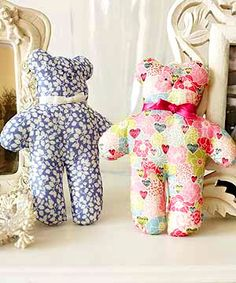 Teddy bears to sew  - Sewing projects for fabric scraps - Craft - allaboutyou.com