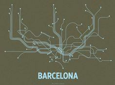 Lineposters – Minimalist City Transit Map Posters – Cayla Ferari