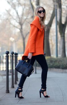 Orange & black | fall, winter style.