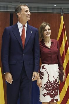 King Felipe VI of Spain and Queen Letizia of Spain visit the Constitutional Court in occasion of his 35th anniversary on September 9, 2015 in Madrid, Spain.