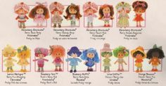 Strawberry Shortcake dolls-- Vintage-- Outfits?  These look like really rare variants!