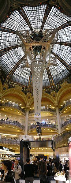 Galeries Lafayette, department store, boulevard Haussman, Paris IX