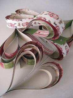 Beautiful paper hearts!