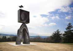 Joan Miró - Personnage Gothique at Yorkshire Sculpture Park Spanish Artists, Sculptures, Surreal Art, Happy Art, Classical Realism, Yorkshire Sculpture Park, Sculpture, Pictures, Joan Miro