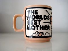 Hornsea John Clappison 'World's Best by londonvintage, Hornsea Pottery, Pottery Mugs, Best Mother, 1970s, World, Tableware, Unique Jewelry, Handmade Gifts, Kitchen
