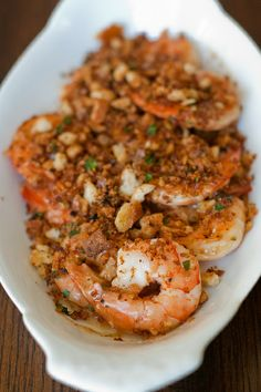 Garlicky Shrimp with Buttered Breadcrumbs