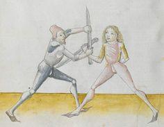 Lecküchner, Hans: Kunst des Messerfechtens Nordbayern, 1482 Cgm 582 Folio 118