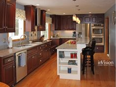 Gorgeous kitchen with island and breakfast bar.