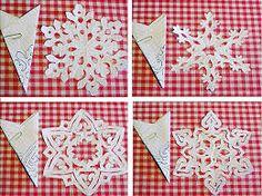 Imagini pentru как сделать снежинки из бумаги схемы