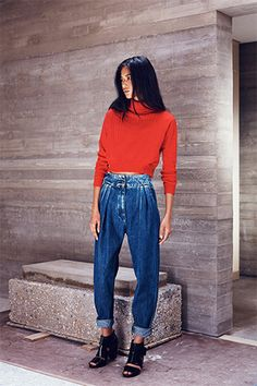 Rachel Comey showed a pleated, stonewashed take for Resort.