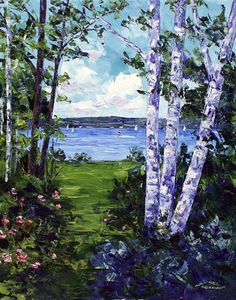 Hramiec Hoffman painter, artist from Harbor Springs, Michigan