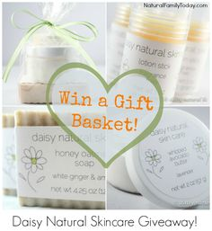 Enter to #win a gift basket from Daisy Natural Skin Care #giveaway