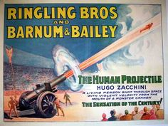 """From """"The History of 5 Deadly Circus Stunts"""" - """"the original design for the [1977] catapulting system...used rubber springs for propulsion...The cannon's design was upgraded in 1922 by Italy's Zacchini Brothers, who replaced the rubber springs with compressed air."""""""
