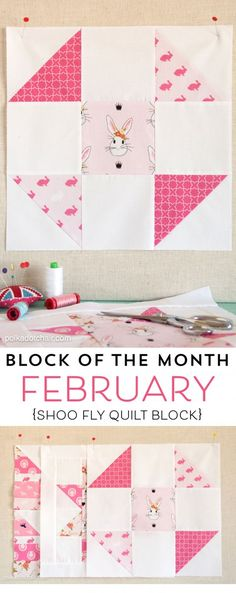 Free quilting tutorial for a Shoo Fly Quilt Block. Learn to make the shoo fly quilt block as a part of the quilt block of the month series on the polka dot chair Quilt Block Patterns, Pattern Blocks, Quilt Blocks, Quilting Tutorials, Quilting Projects, Quilting Ideas, Quilting Tools, Sewing Patterns Free, Free Pattern
