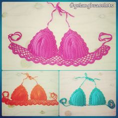 My first time crochet bikinis