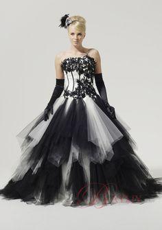 vestido de noiva black and white gothic ball gowns bridal dresses victorian vintage 2017 halloween wedding gowns robe de mariage
