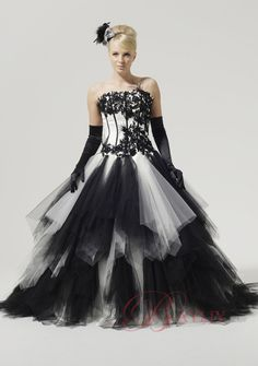 Normally A Gothic Wedding Gown Is White With Black Trims