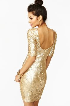 Goldmine Sequin Dress in Clothes Dresses at Nasty Gal. Need this for my Christmas dress.