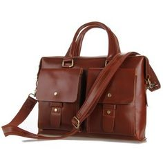 Image of 2014 New Cowhide Leather Briefcase Messenger Bag Tote Macbook Bag iPad Case Business  ..AKA, Cherron New Bag for Service..