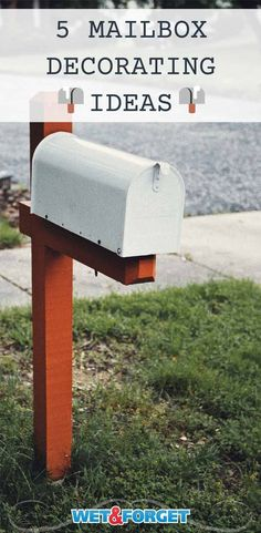 Show your neighbors how creative you are with a fun and decorative mailbox desgin. Here are 5 mailbox design ideas to get you started. Mailbox Plants, Mailbox Garden, New Mailbox, Mailbox Post, Mailbox Decorating, Decorating Ideas, Mailbox Makeover, Climbing Flowers, Diy Ombre