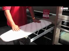 (en) Hafele - Ironing table in drawer  (ro) Hafele - Masa de calcat in sertar
